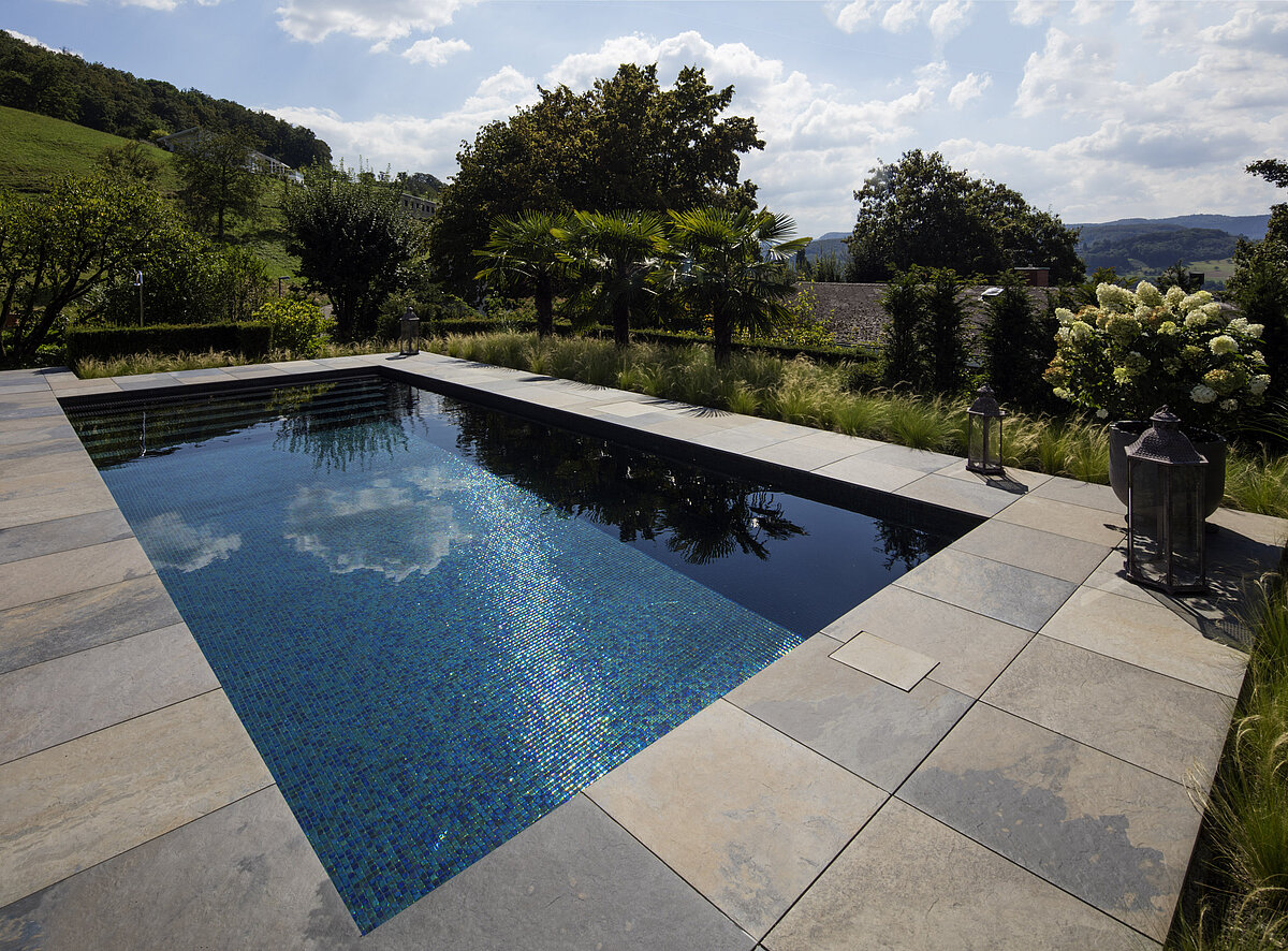 Custom-made prefabricated mosaic pools - RivieraPool ...